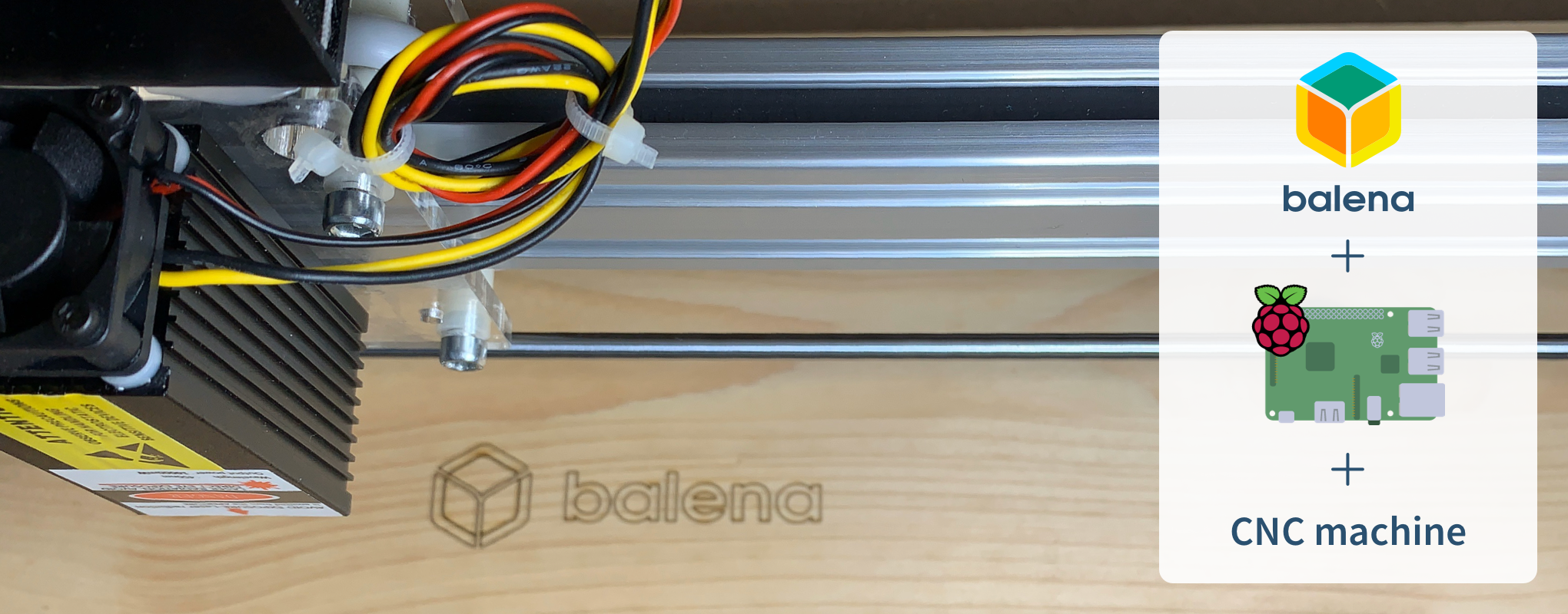 Here's a balena logo scribed by one of my shop machines