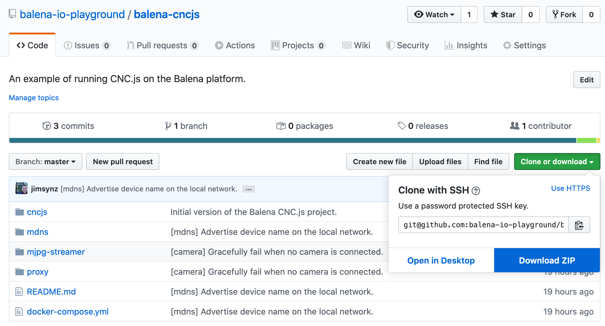 Clone or download the balena-cncjs repo however you choose.