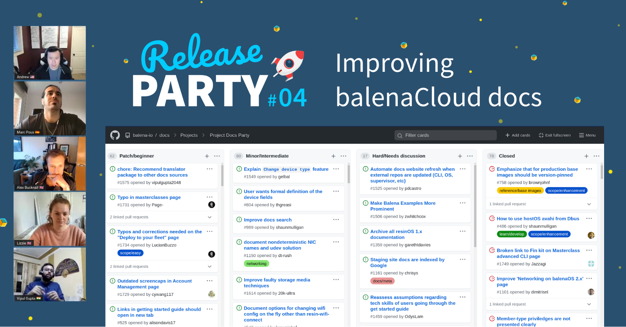 Release Party 4 was all about improving documentation
