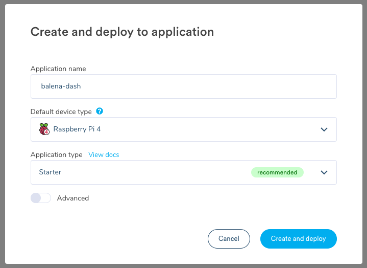 Create and deploy the application!